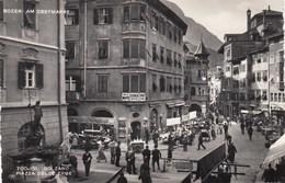 MERAN-MERANO-BOZEN-BOLZANO-PIAZZA DELLE ERBE-ANIMATISSIMA-CARTOLINA VERA FOTOGRAFIA VIAGGIATA IL 27-7-1953 - Bolzano