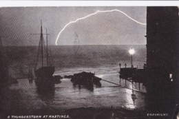 AO79 A Thunderstorm At Hastings - 1904 Postcard - Hastings