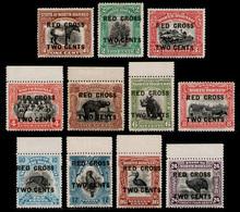 NORTH BORNEO 1918 - Red Cross Ovpt. 1c To 24c All MNH** - Borneo Del Nord (...-1963)