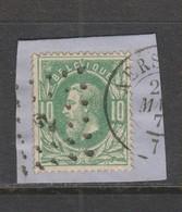 COB 30 Oblitération à Points 2 AERSCHOT +6 - 1869-1883 Léopold II