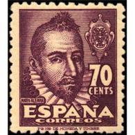 ES1036STV-LFT***1036TO.España.Spain  Espagne. Escritor.MATEO ALEMAN.1948. (Ed 1036**) Sin Charnela - Otros