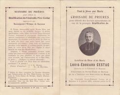 CROISADE DE PRIERE  SERVITEUR DE DIEU ET DE MARIE LOUIS EDOUARD CESTAC CHANOINE   NE A BAYONNE LE 6.1.1801C - Religión & Esoterismo