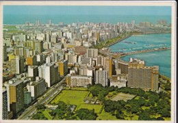 AN23 Durban, Albert Park And Part Of The City - 1970's Postcard - South Africa