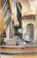 AN23 Alger, La Rue Du Chameau - Animated, Children, LL Postcard - Algiers