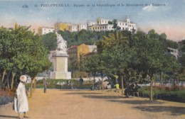 AN23 Philippeville, Square De La Republique Et Le Monument Des Zouaves - Skikda (Philippeville)