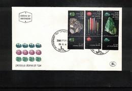 Israel 1981 Michel 871-73 Minerals FDC - Mineralien