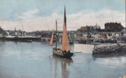 AN23 Folkestone Harbour - 1900's Postcard, Sailing Boat - Folkestone