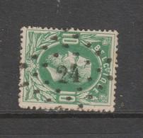 COB 30 Oblitération à Points 24 AYWAILLE +15 - 1869-1883 Leopold II.