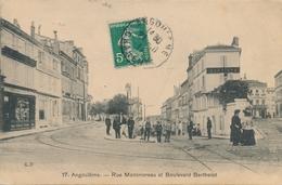 CPA - France - (16) Charente - Angoulème - Rue Montmoreau Et Boulevard Berthelot - Angouleme