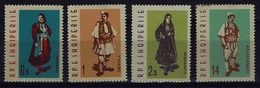 Albanien Albania 1962 - Trachten  Folk Costume - MiNr 695-698 - Kostüme