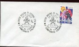 46034 Italia,special Postmark 1985 Molina Di Fiemme  Vigili Del Fuoco Sci Fondo Campionato Italiano - Pompieri