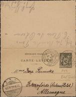 World Exposition - Expo Mondiale - Entier Voyagé - Used Postal Stationery - 1900 – Paris (Frankreich)