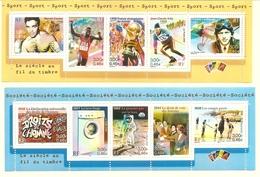 2 BANDES Neuves De 5 TP Issues Des BF 29 Et 32 - Y&T : B3316A - 2000 Sport Et B3355A - 2000 Société. TB. - Neufs