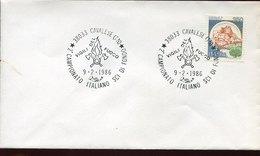46035 Italia,special Postmark 1986 Cavalese  Vigili Del Fuoco Sci Fondo Campionato Italiano - Pompieri