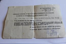 MILITAIRE AUTORISATION PROVISOIRE DE PORT DE LA MEDAILLE COMMEMORATIVE DES OPERATIONS DE SECURITE  EN AFRIQUE DU NORD - Historical Documents