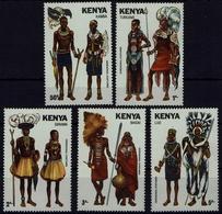 Kenia Kenya 1981 - Trachten  Folk Costume - MiNr 205-209 - Kostüme