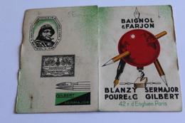PETIT CLENDRIER 1938 PUBLICITE BAIGNOL ET FARJON 5?3CM X 8 CM - Klein Formaat: 1921-40