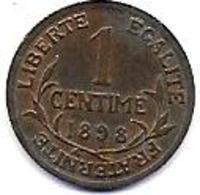 France - 1 C Dupuis  1898A - A. 1 Centime