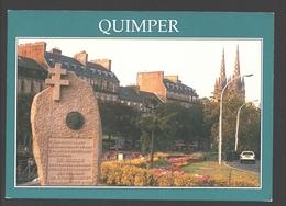 Quimper - La Stèle Commémorative De Dernier Discours Public Du Général De Gaulle - Quimper