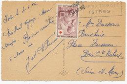 N° 1048 Seul Sur Carte Postale  (12354) - Marcophilie (Lettres)