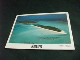 STORIA POSTALE  FRANCOBOLLO PESCE MALDIVES ISLAND DHIFFUSHI  VISTA AEREA - Maldive