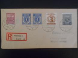 Allemagne Occupation , Lettre Recommandee De Hamburg 1946 Pour Weingarten Curieux Affranchissement - Allemagne