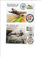 2 Cartes Avec MTAM Et Bureau Temporaire Pour Les 25 Ans Du Musée D'aviation De Vraux (51) Dessin R.Irolla Et G.Lefèvre - Other Municipalities