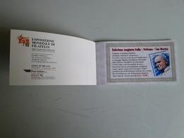 Alt1081 Libretto Informativo Pubblicitario Expo Milano Italia 98 Filatelia Philatelic Tematica Aerofilatelia Letteratura - Francobolli