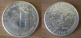 Cuba 40 Centavos 1952 1902 1952 50 Ans Republique Star Silver Argent Centavo Que Prix + Port Pesos Paypal Bitcoin - Cuba