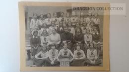 ZA208.11  Old Large Photo On Cardboard - Classmates - Children -School Photo - 1935-36 Hungary - Persone Anonimi