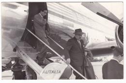 AEREO - PLANE - ALITALIA - SCALETTA PASSEGGERI - FOTO CARTOLINA ORIGINALE - Aviazione