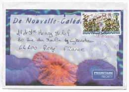 2003 - NOUVELLE CALEDONIE - ENVELOPPE Par AVION De NOUMEA MARINE ! - Briefe U. Dokumente