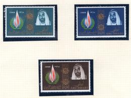 1968 - ABU DHABI. -  Mi. Nr.  42/44 - LH - (CW4755.39) - Abu Dhabi