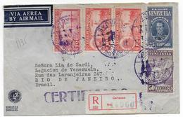 1928 - VENEZUELA - ENVELOPPE RECOMMANDEE Par AVION De CARACAS => RIO (BRESIL) - Venezuela