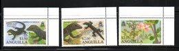 ANGUILLA, 2010,FLOWERS, LIZARDS, 3v. MNH** - Reptiles & Amphibians