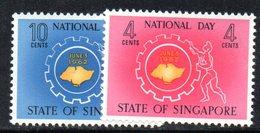 APR1715 - SINGAPORE 1962 , Yvert N. 65/66  ***  MNH  (2380A) . Fiera - Singapore (1959-...)