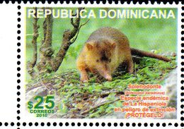 DOMINICANA, 2010,RODENT, 1v. MNH** - Stamps
