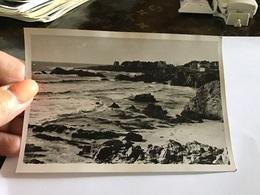 Photo Noir Et Blanc 1967 Batz-sur-Mer Vague  - Lieux
