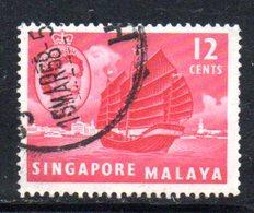 APR1720 - SINGAPORE 1955 , Yvert N. 35  Usato  (2380A) . - Singapore (...-1959)