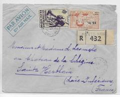 AOF - DAHOMEY - ENVELOPPE RECOMMANDEE De PORTO-NOVO =>ST HERBLAIN - AFFR. MIXTE MAURITANIE/AOF - A.O.F. (1934-1959)