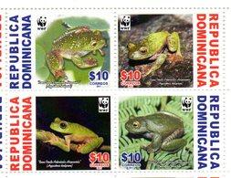 DOMINICANA, 2011,WWF, FROGS, 4v. MNH** - W.W.F.