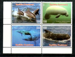 DOMINICANA, 2016,DOLPHINS, WHALE 4v. MNH** - Dolphins