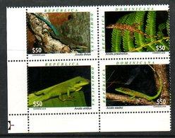 DOMINICANA, 2016,REPTILES, 4v. MNH** - Reptiles & Amphibians