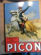 Pochette Cartonnée Centenaire Publicité  PICON Apéritif Sain Et Agréable 1837 1937 En Parfait état - Non Classificati