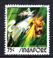 APR1721 - SINGAPORE 1973 ,  Yvert N. 204  Usato  (2380A) . Leone - Singapore (1959-...)