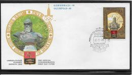 Thème Jeux Olympiques - Moscou 1980 - Sports - Enveloppe - Summer 1980: Moscow