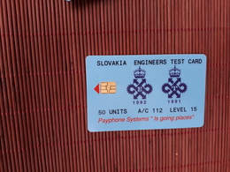 SLOVAKIA Queens Awards, GPT Engineers Test Card 50 Units Very Rare 2 Scans - Slovakia