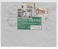 1951 - AOF - COTE D'IVOIRE - ENVELOPPE RECOMMANDEE De AGBOVILLE => PARIS - A.O.F. (1934-1959)