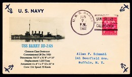 """US Navy, USS""""BARRY"""" (DD-248)1932,"""" Photo-Cachet, LOW PRICE !! Look Scan !! 15.5-90 - Ships"""