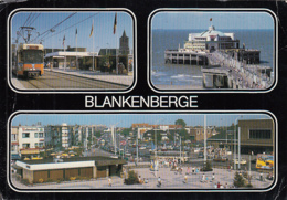 80397- BLANKENBERGE- TRAMWAY, SQUARE, PIER, BUSS, CAR - Blankenberge